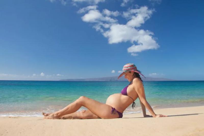 Embarazada y de vacaciones