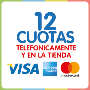 12 Cuotas con Visa, Americas o Mastercard