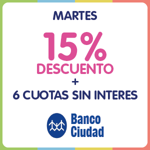 15% DESCUENTO